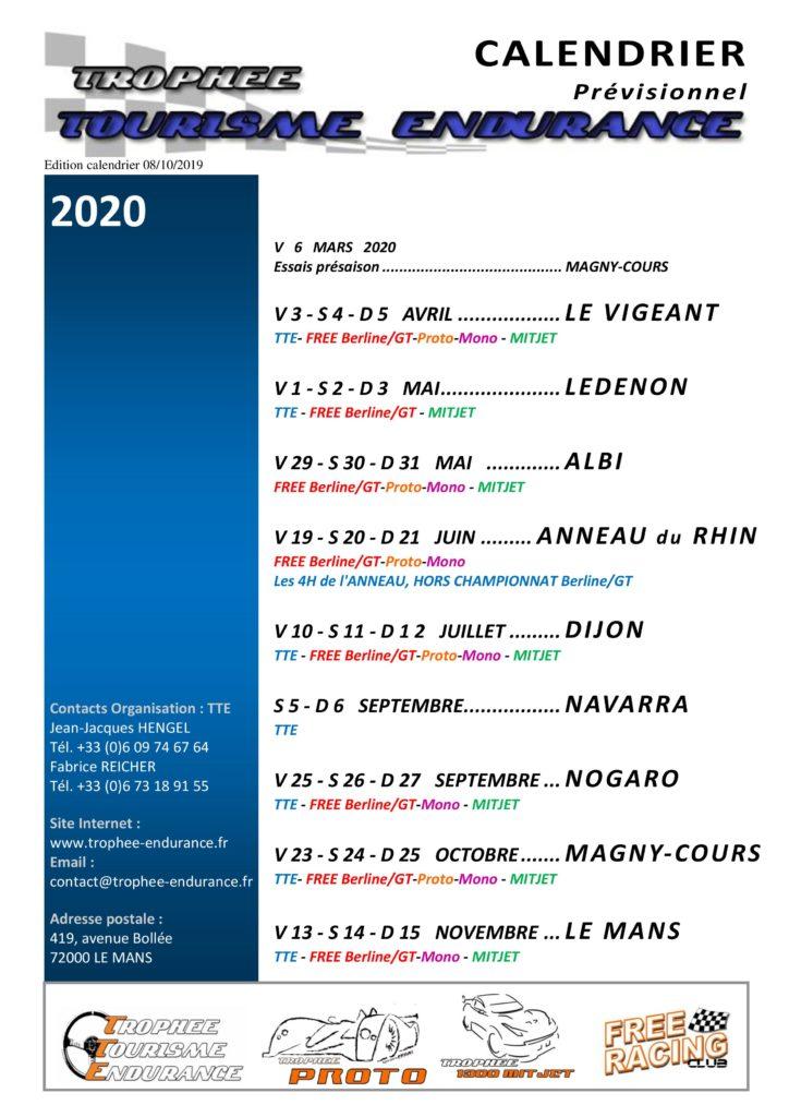 Calendrier Magny Cours 2020.Le Calendrier 2020 Est Arrive Tte