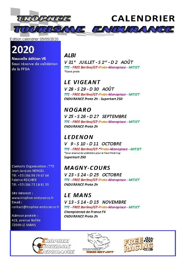 Communiqué : Modification du calendrier 2020   annulation de Dijon